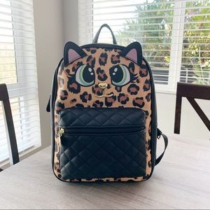 Betsey Johnson Leopard Cat Backpack